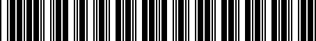 Barcode for MF140270