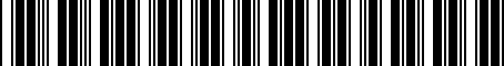 Barcode for 04111481