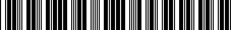 Barcode for 04334327