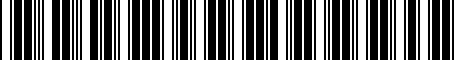 Barcode for 04717721AA