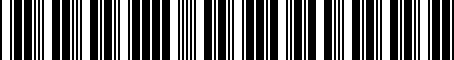 Barcode for 04734726