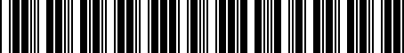 Barcode for 04778762
