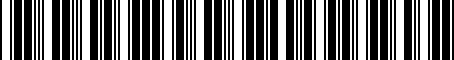 Barcode for 04780768AH