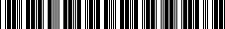 Barcode for 05026021AE
