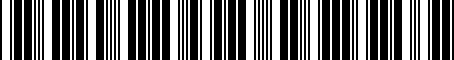 Barcode for 05038307AE