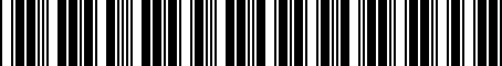 Barcode for 05080982AA