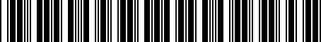 Barcode for 05274952AA