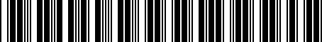 Barcode for 06507741AA