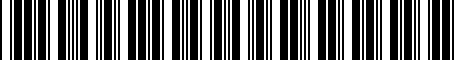 Barcode for 52058200