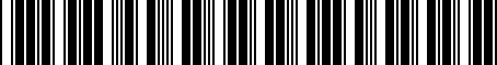 Barcode for 83507045