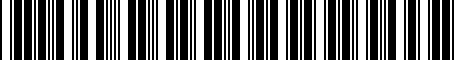 Barcode for R6040298AD