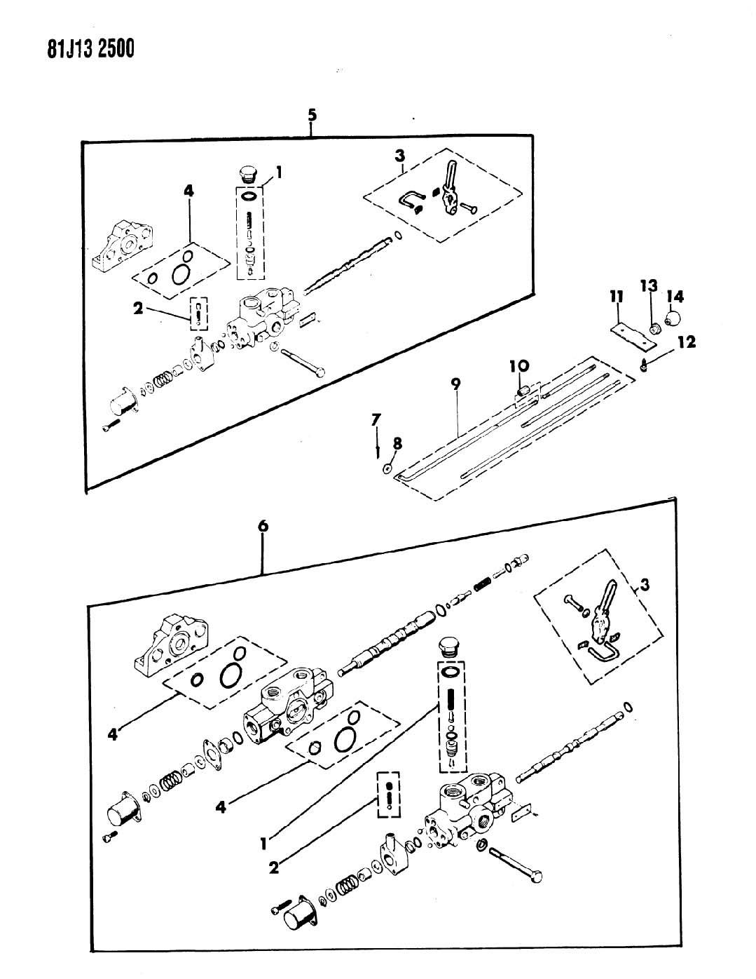 snow plow hydraulic controls