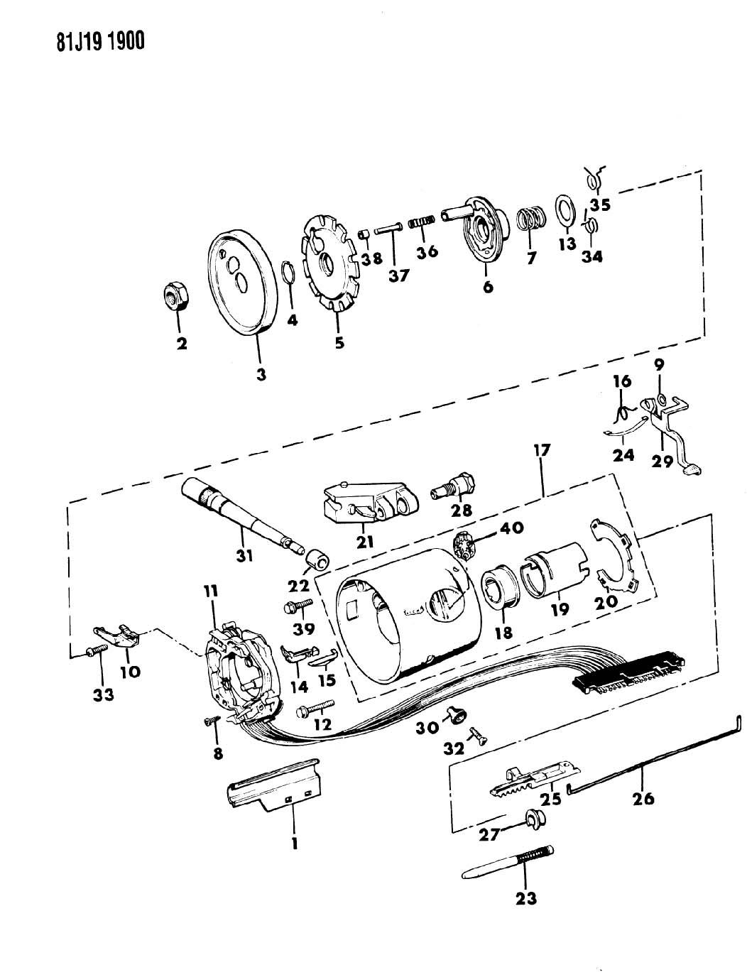 jeep steering column parts cherokee xj