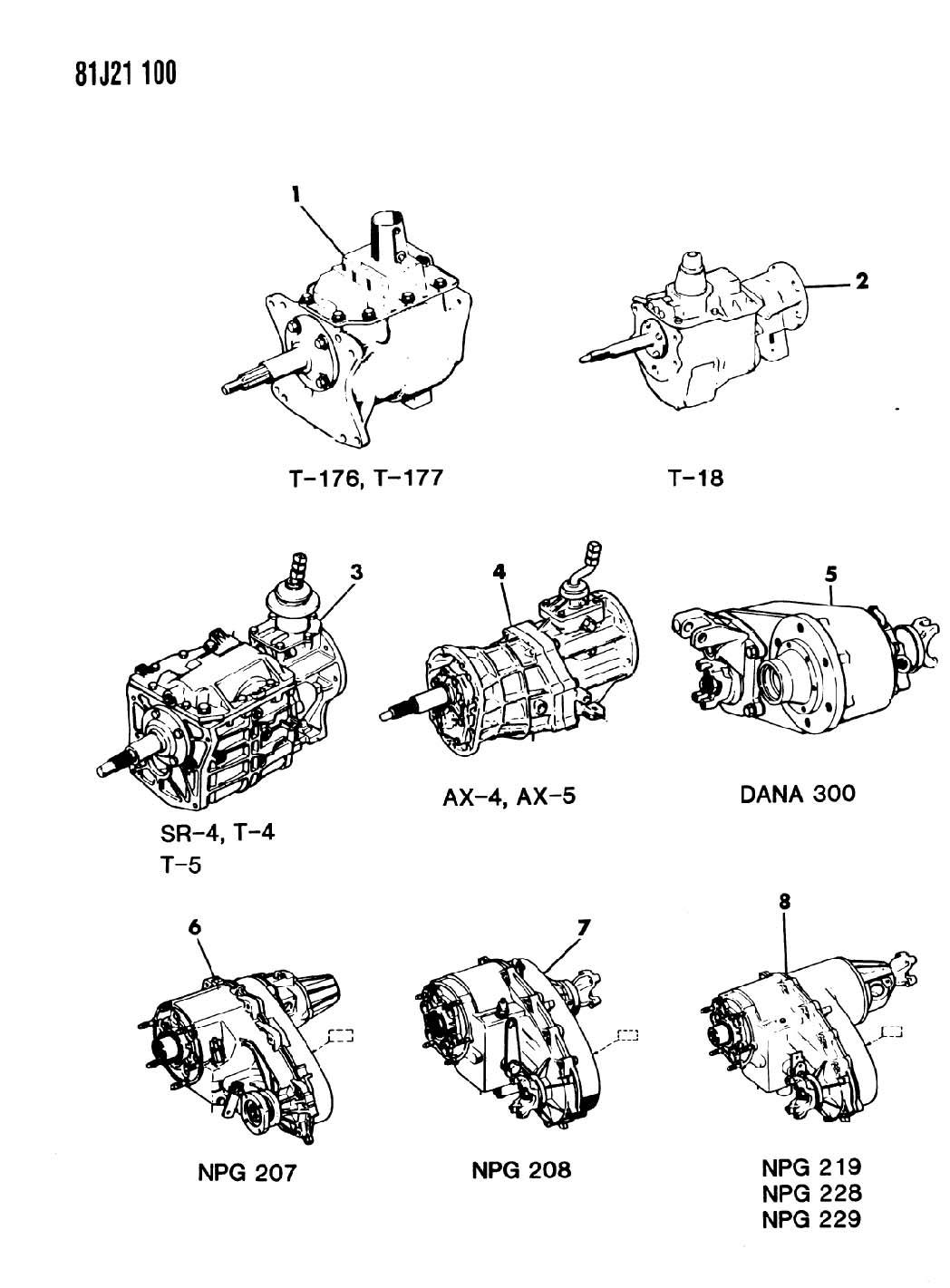 Jeep Wrangler Transfer Case Assembly  Dana Model 300  1981