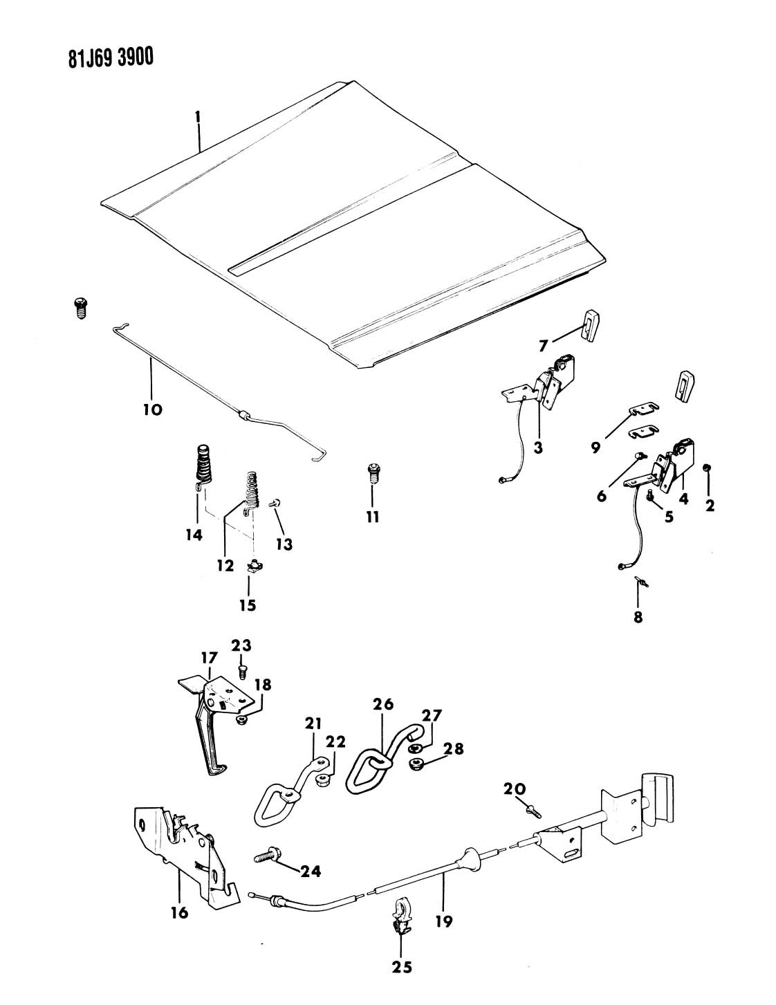jeep comanche hood latch diagram  jeep  free engine image