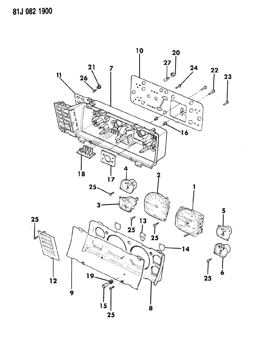 1986 jeep cherokee instrument cluster with gauges
