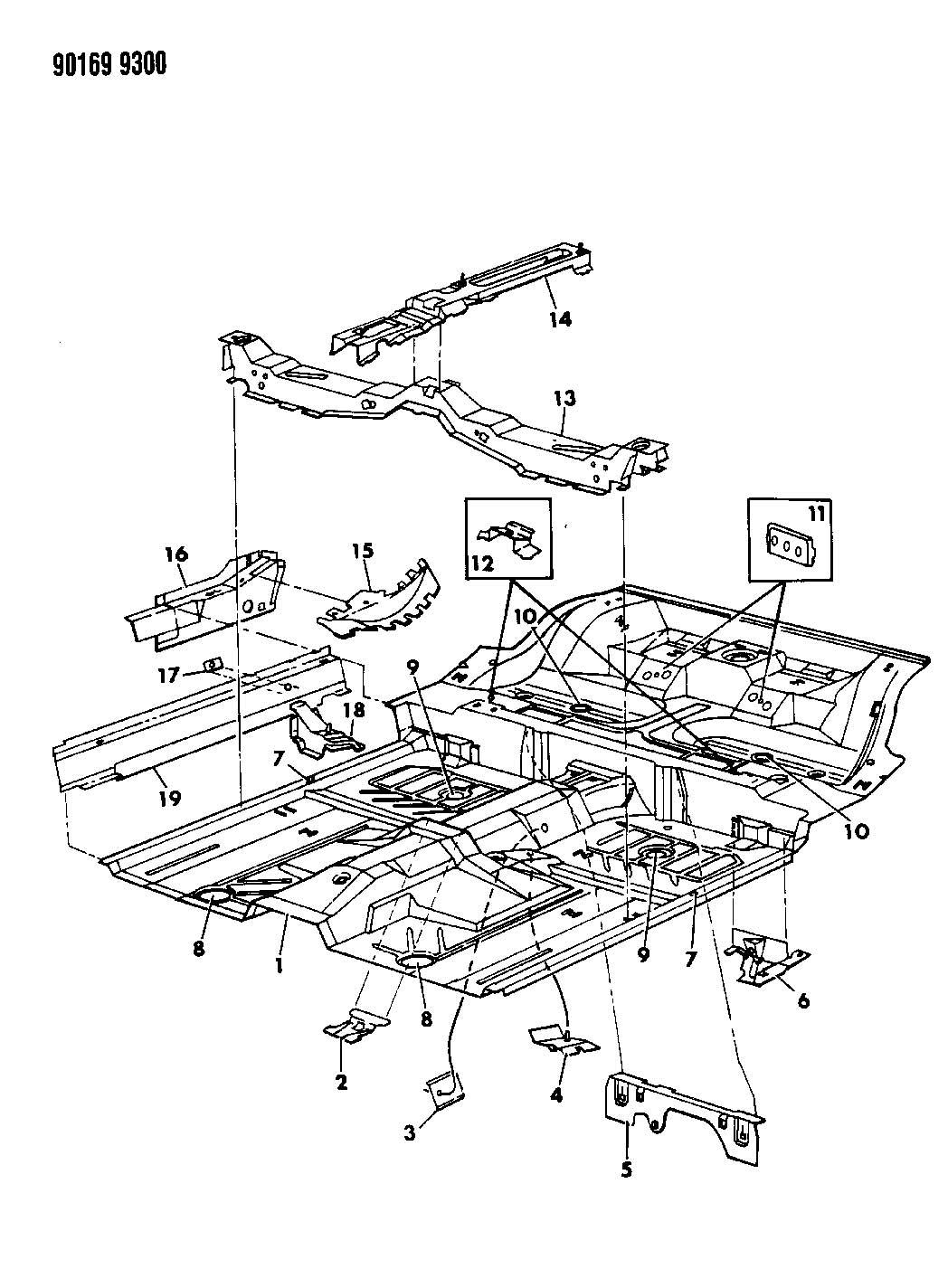 floor pan front g body 24