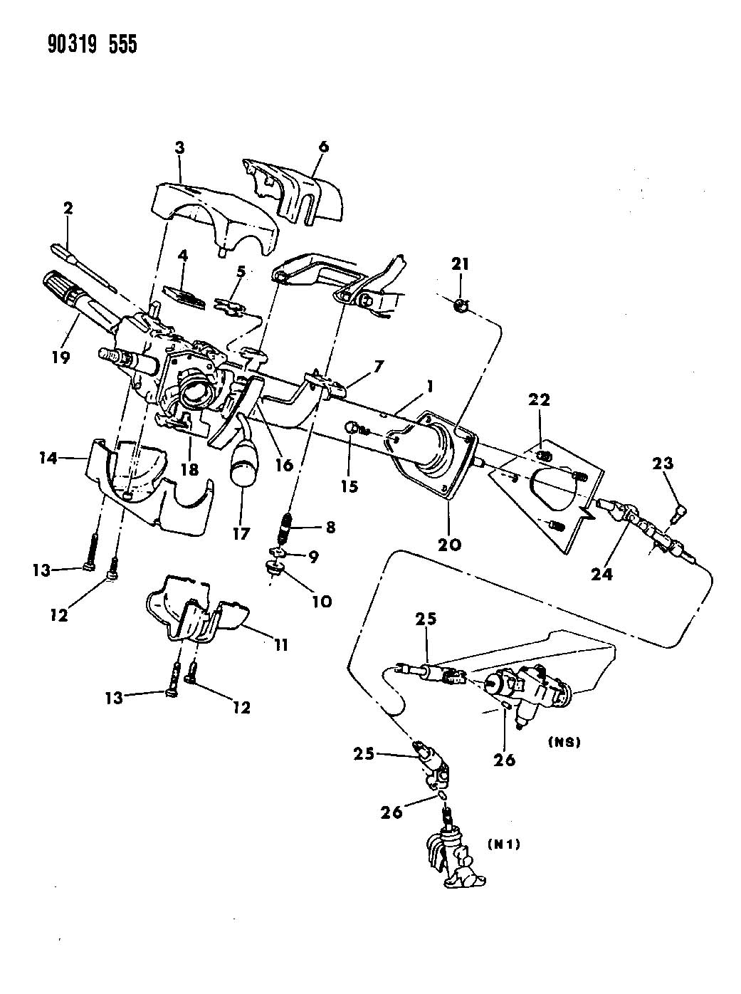 ram steering column tilt diagram free wiring diagram images