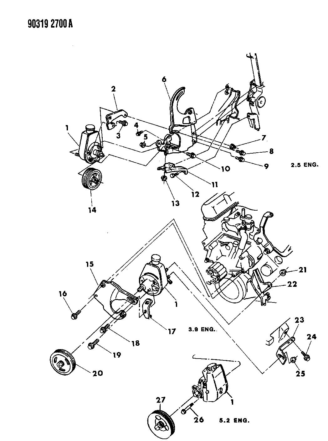 similiar 1990 dodge dakota steering diagram keywords pump mounting power steering n body 1990 91 for 1991 dodge dakota