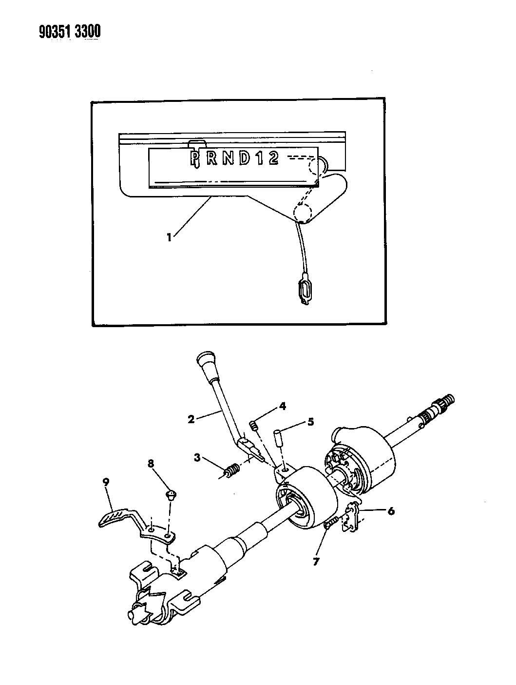 Dodge Dakota Indicator  G  Shift  Shift Indicator Assembly  Gearshift  Up To 3-1-90