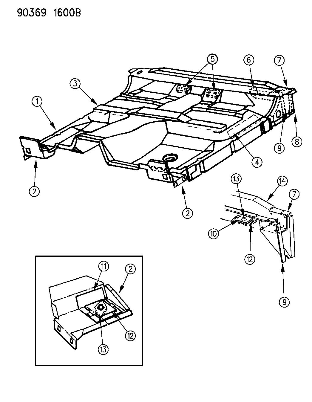 1991 dodge dakota floor pan n 61 and 62 for 1994 jeep cherokee floor pans