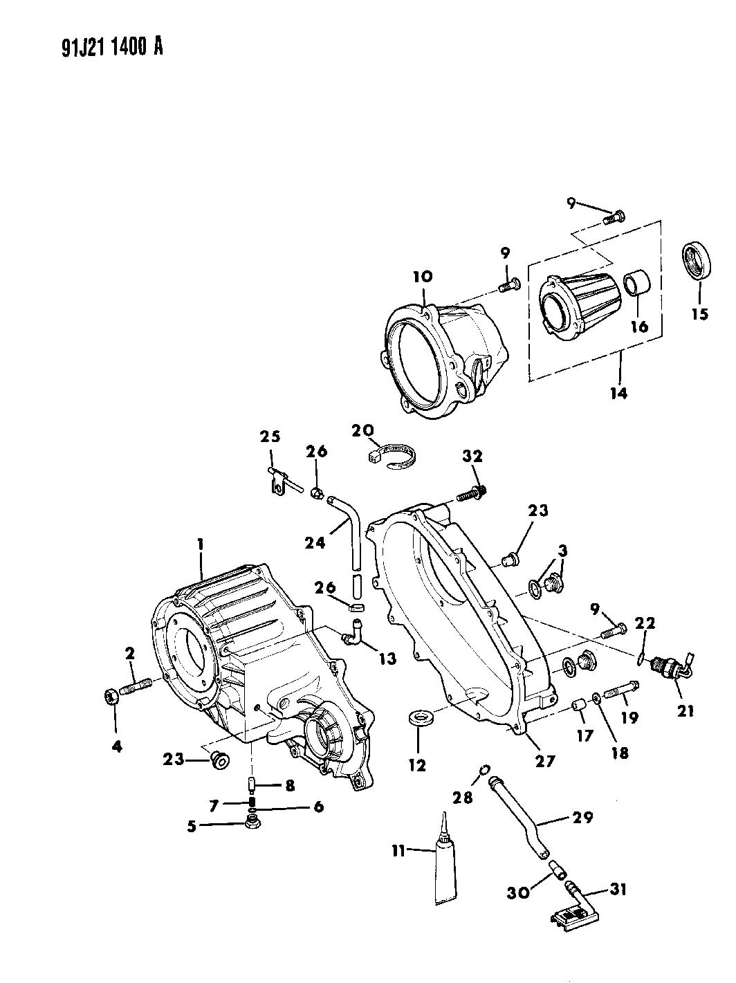 new process 231 transfer case parts