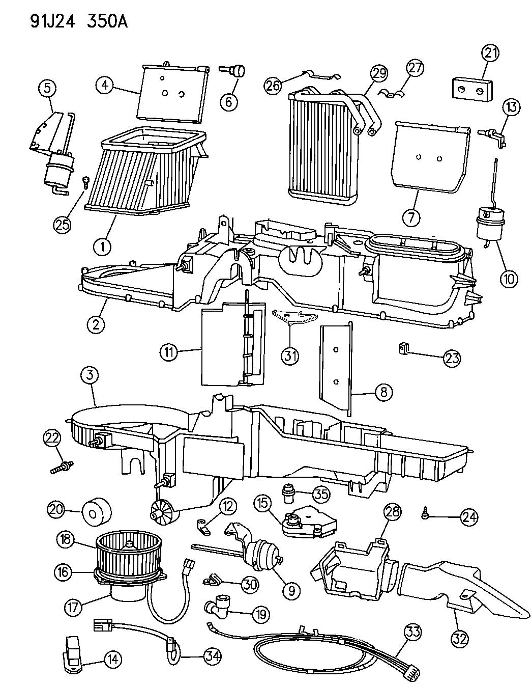 jeep cj7 blower motor wiring diagram
