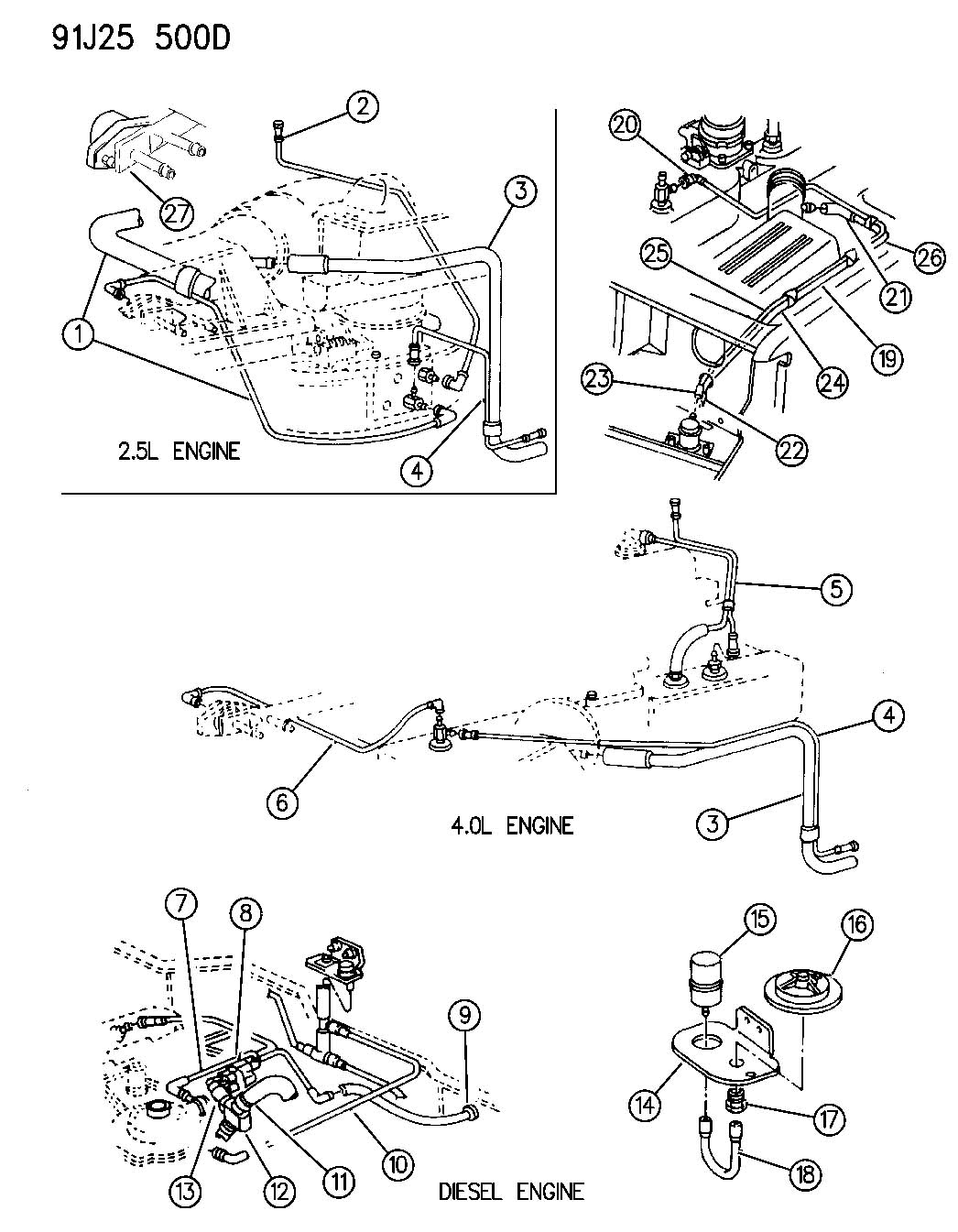 jeep 2 4 vacuum lines diagram
