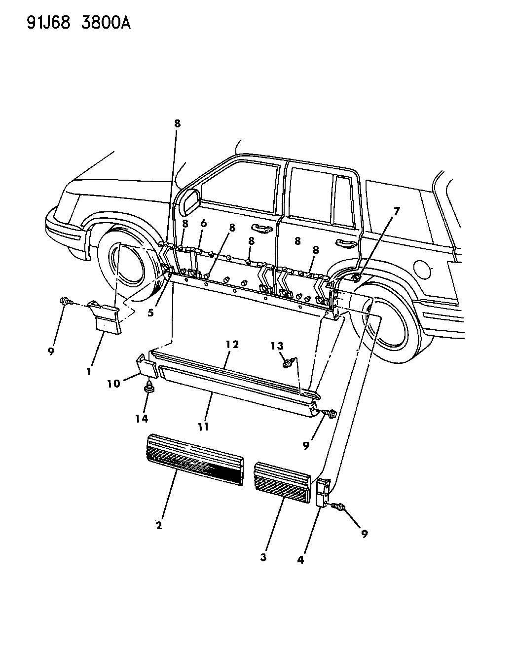 jeep grand cherokee molding  side sill  right  color   no description available  exterior