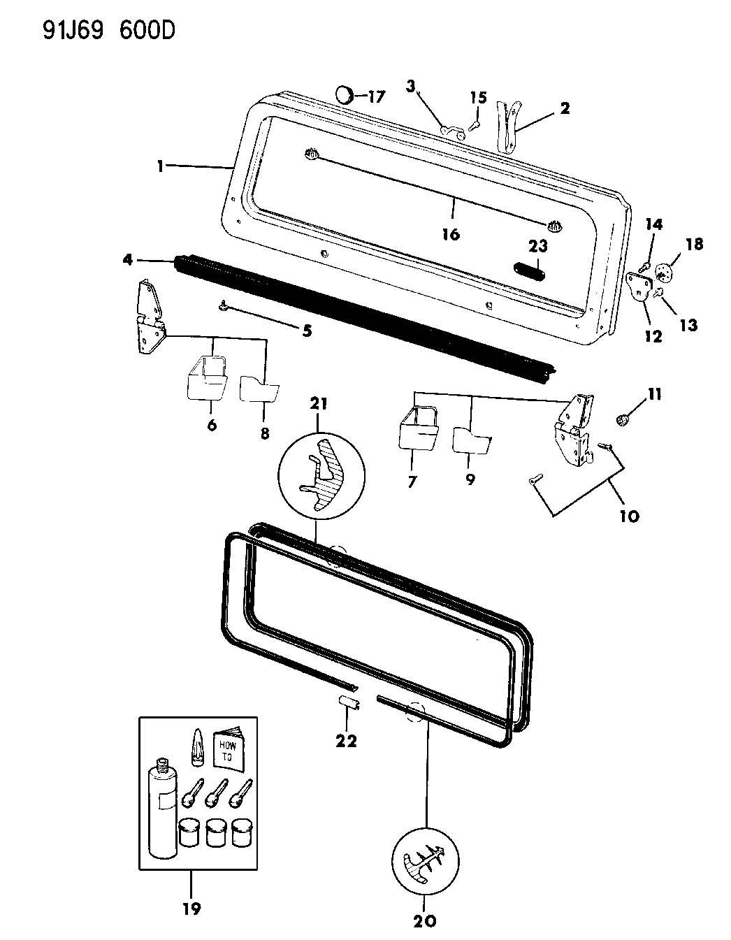 windshield frame  hinges  and seals wrangler  yj