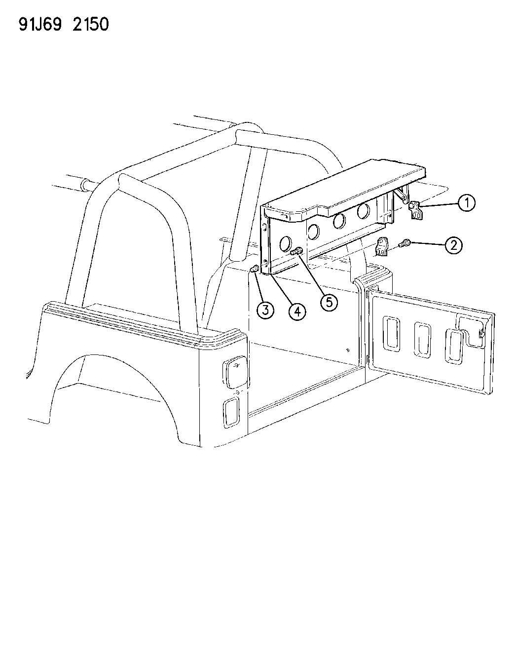 1988 Jeep Cherokee Nut  Rivet  Round  M6 00 X 1 00 X 15 00
