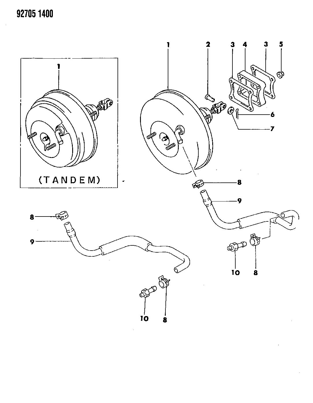 Diagram BOOSTER, POWER BRAKE CZ 35-COLT WAGON, SUMMIT WAGON for your Dodge