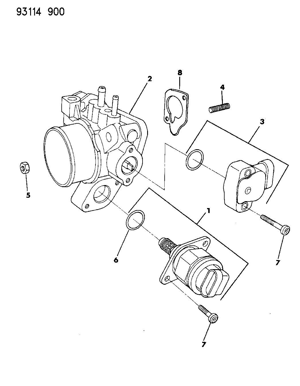 04778462     Chrysler    Screw    Throttle    position sensor Bnd