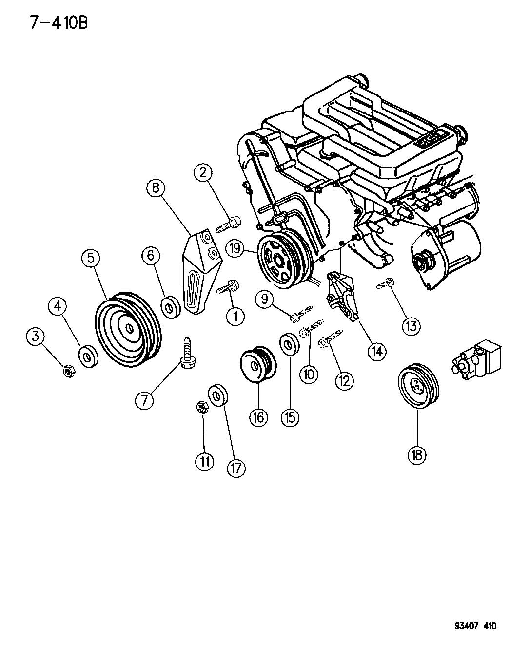 Diagram DRIVE PULLEYS 3.5L ENGINE LH BODY for your Dodge