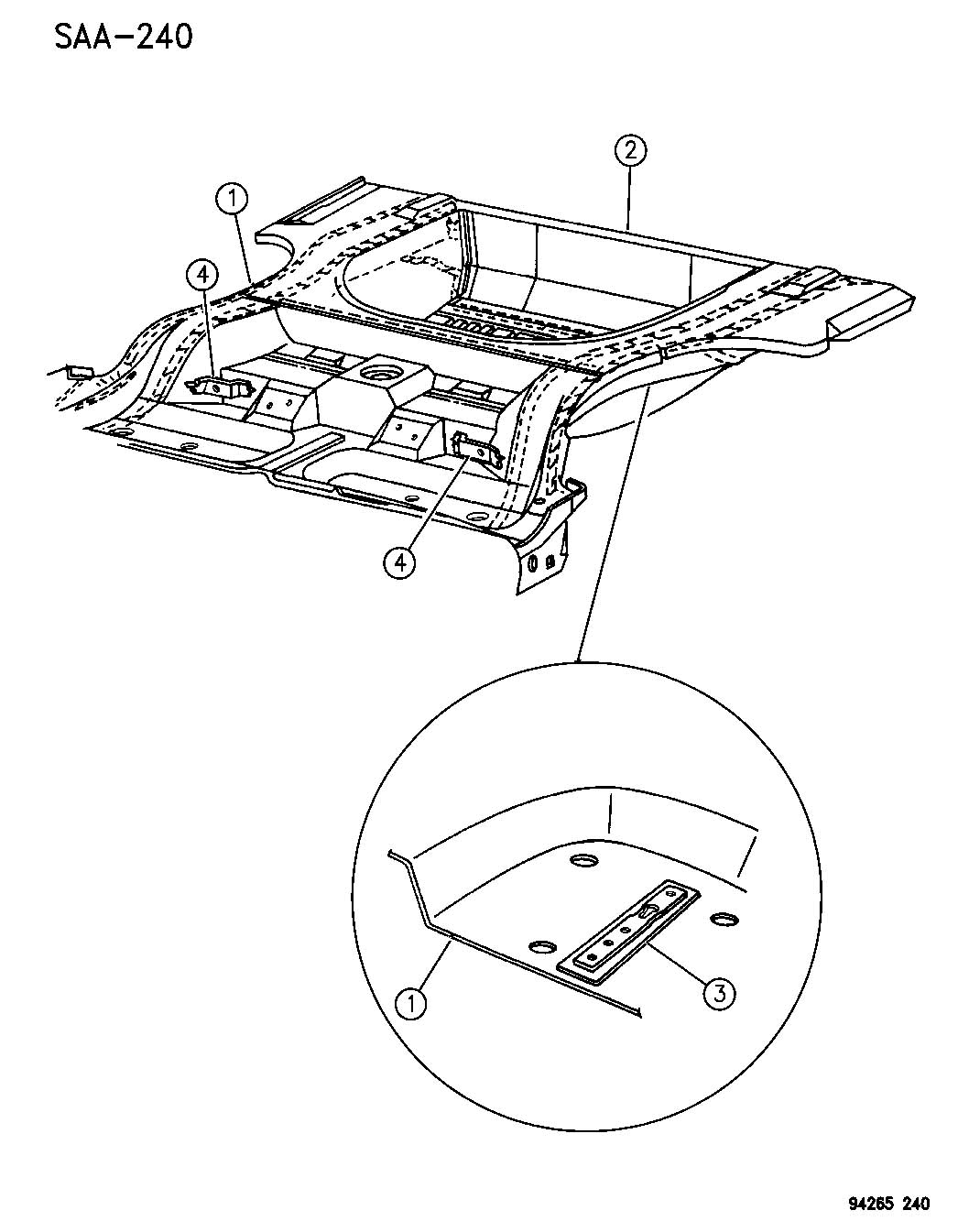 1994 chrysler lebaron floor pan rear a body 41 for 1994 jeep cherokee floor pans
