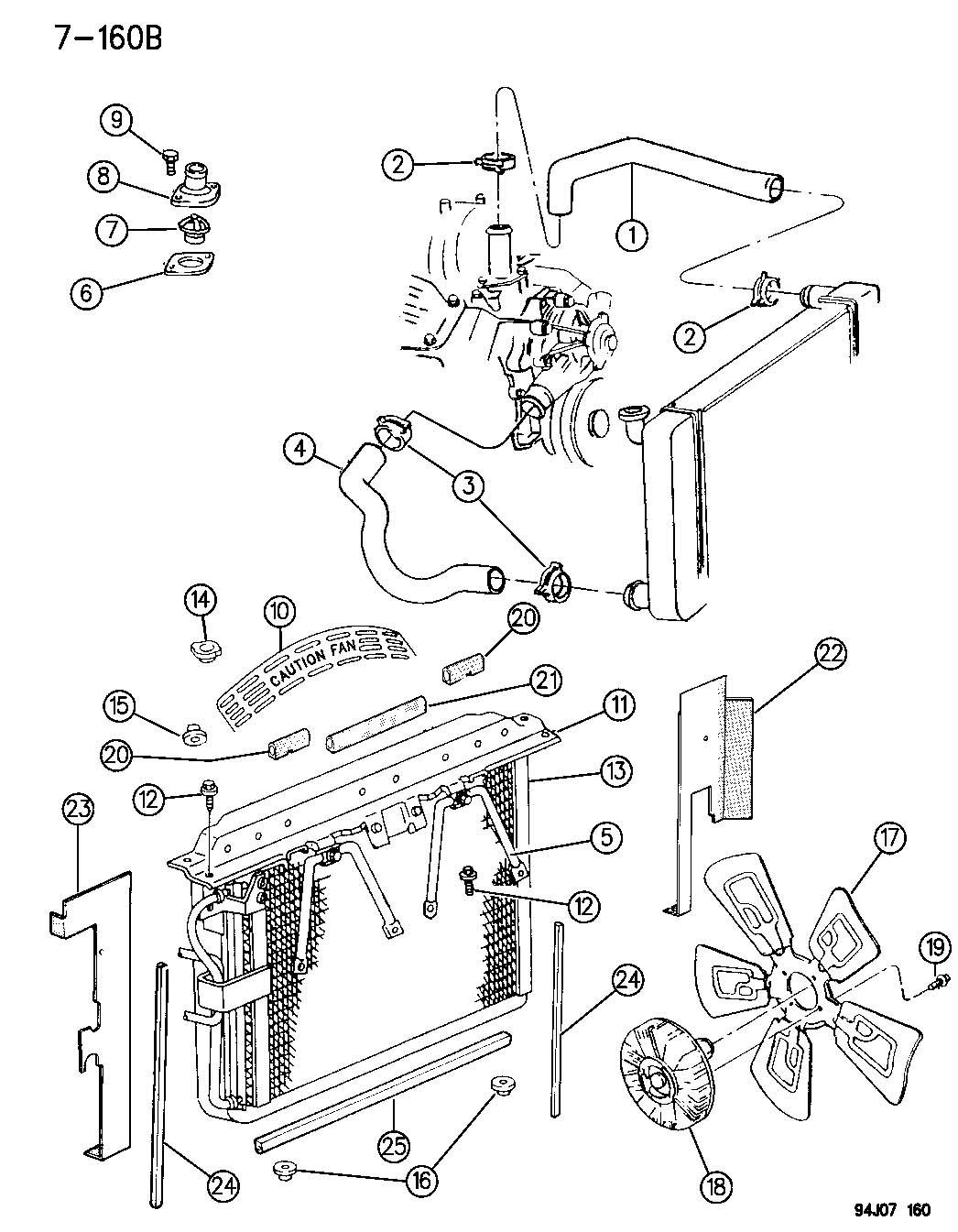 Jeep Grand Cherokee Grommet  Radiator  Lower  Lower Isolator