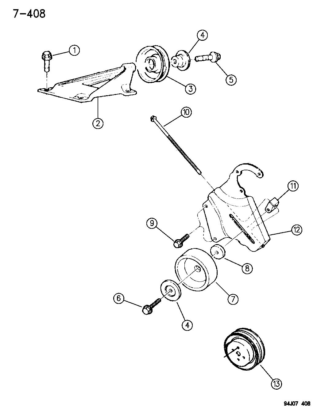 2000 Jeep Wrangler Bolt  Adjusting Bracket