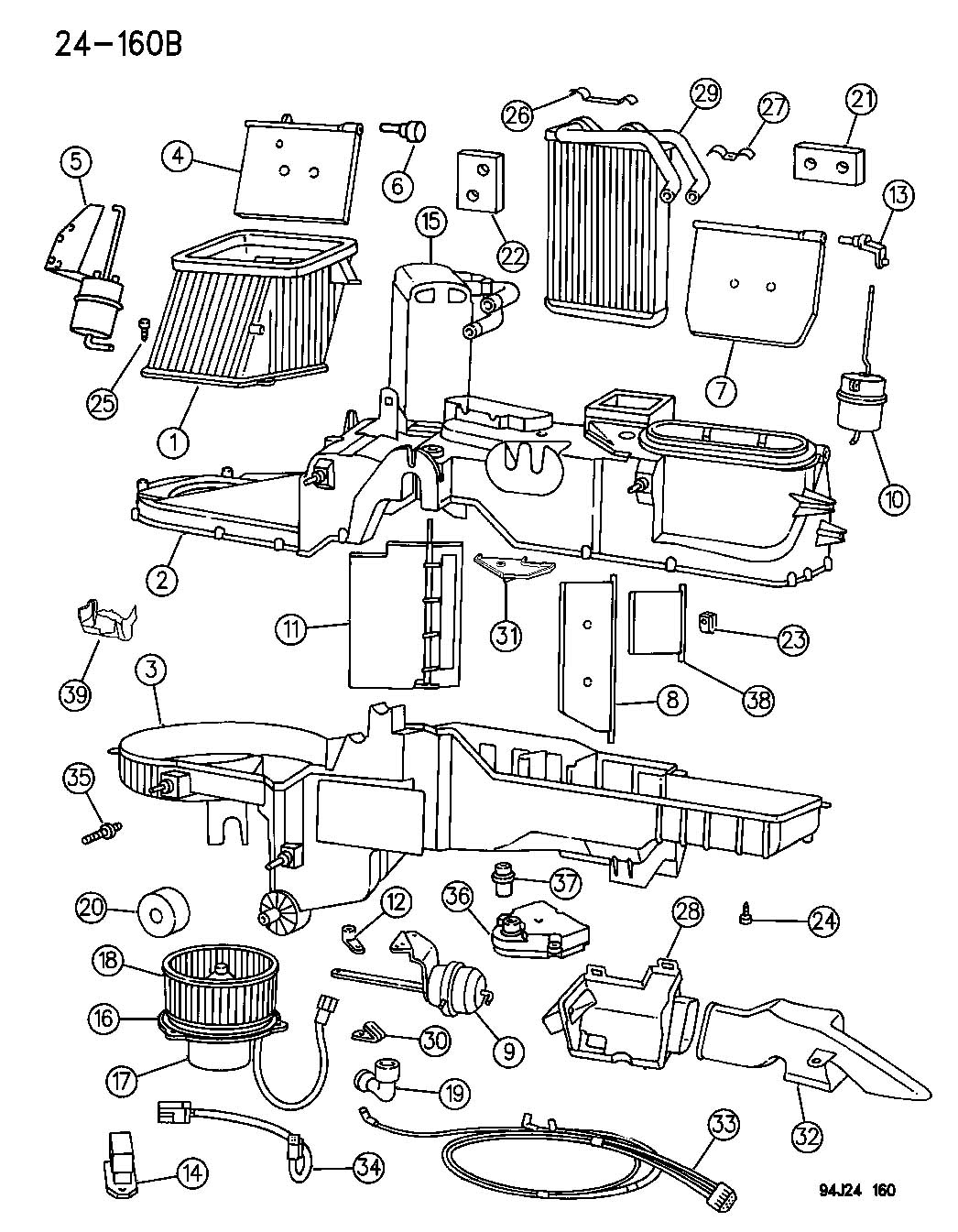 Dodge Ram 2500 Actuator  Heater  Vent  Defrost  Ventdefrost