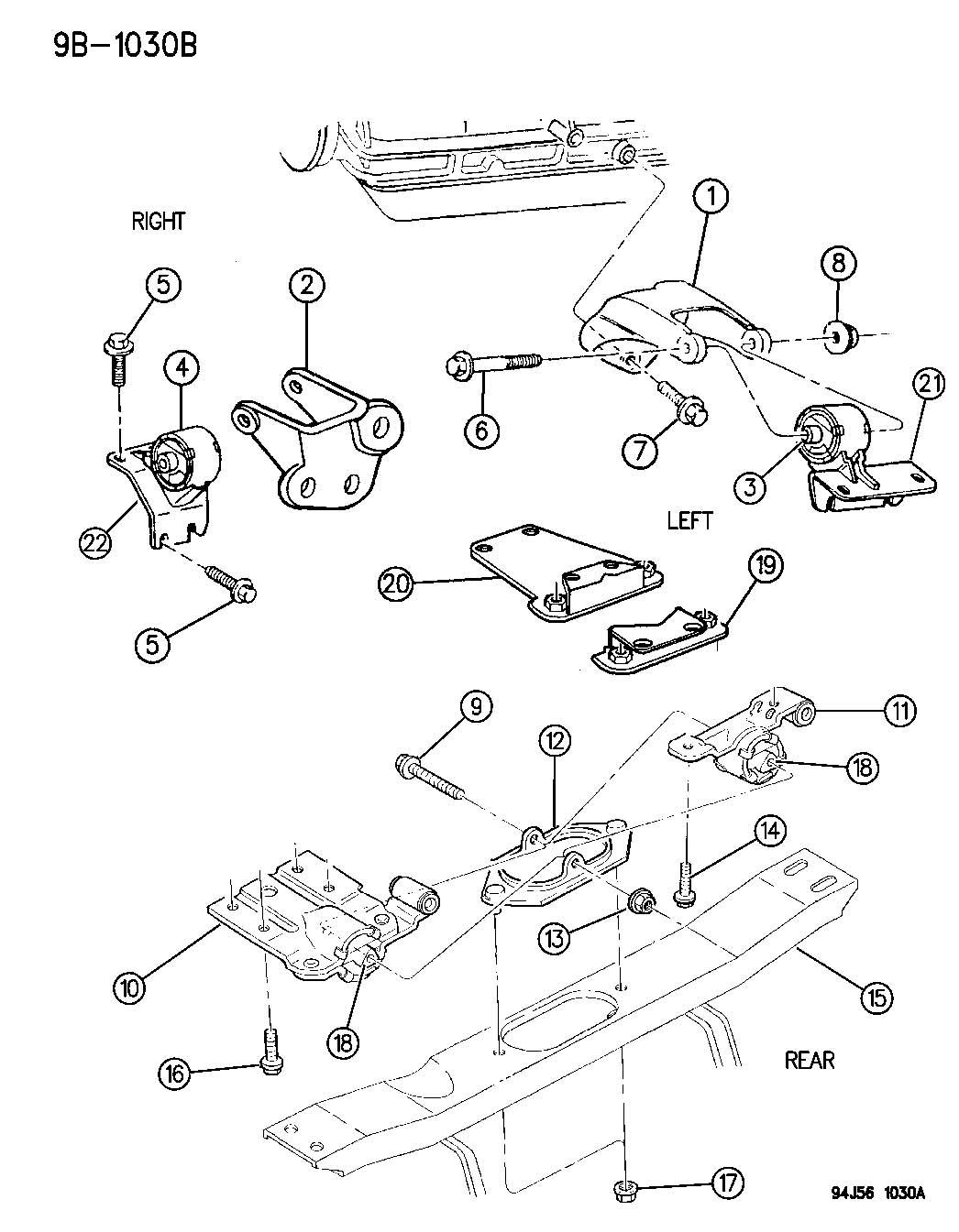 1996 Jeep Grand Cherokee Insulator  Left  Engine Mount