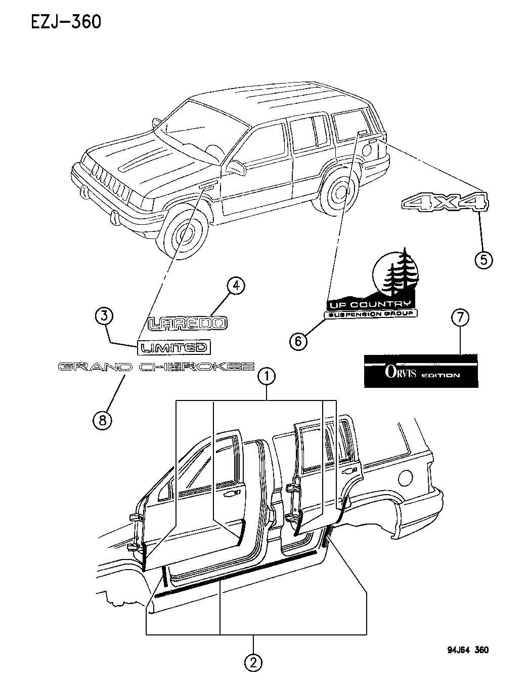 1995 jeep yj body parts