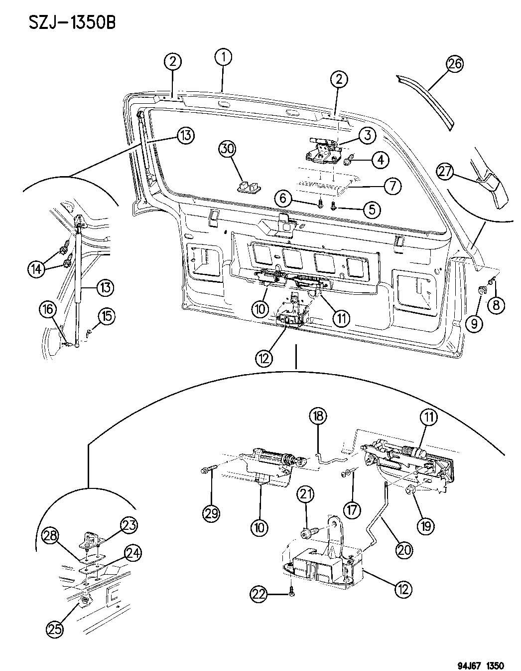 1998 Jeep Grand Cherokee Striker. Door latch. Lach ...