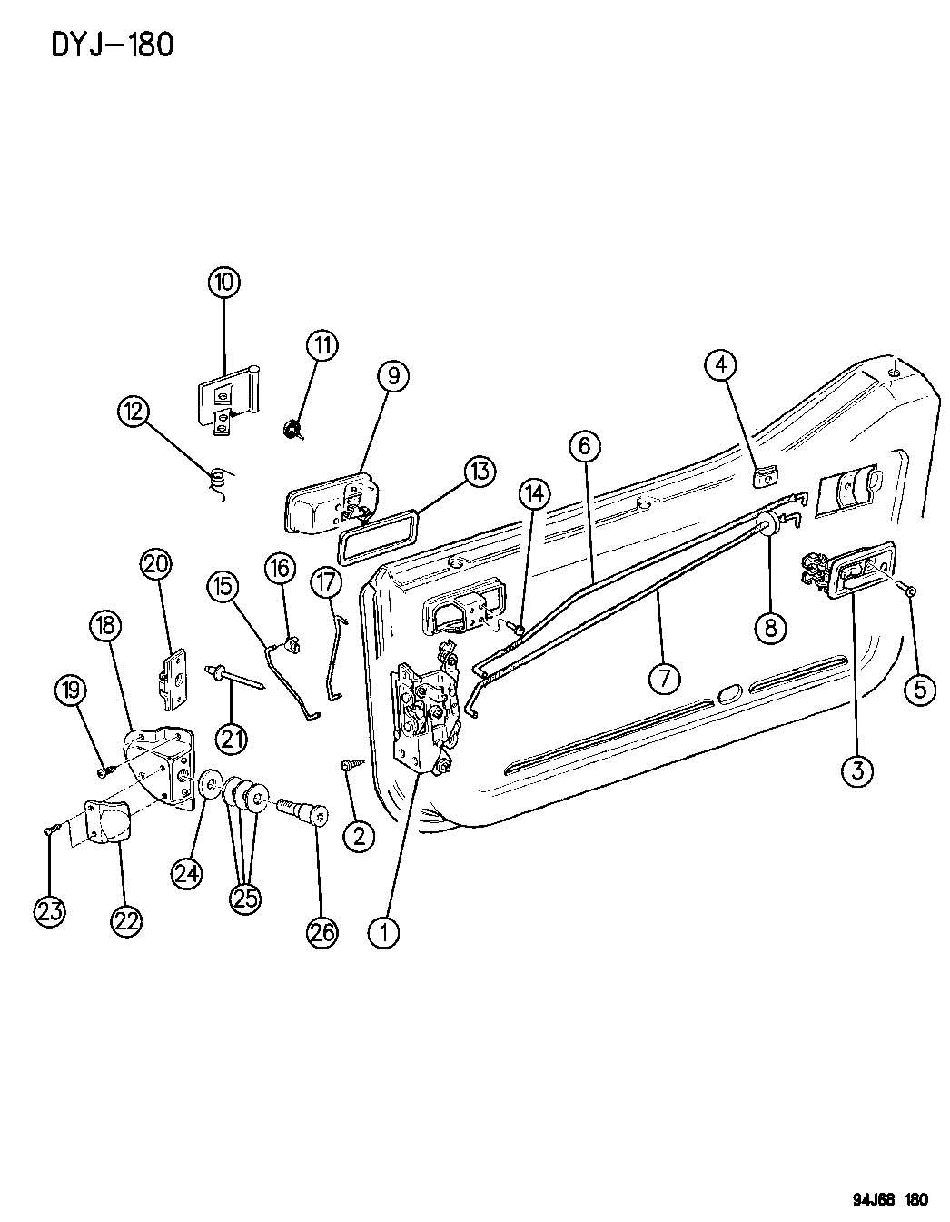 door latch  jeep door latch assembly