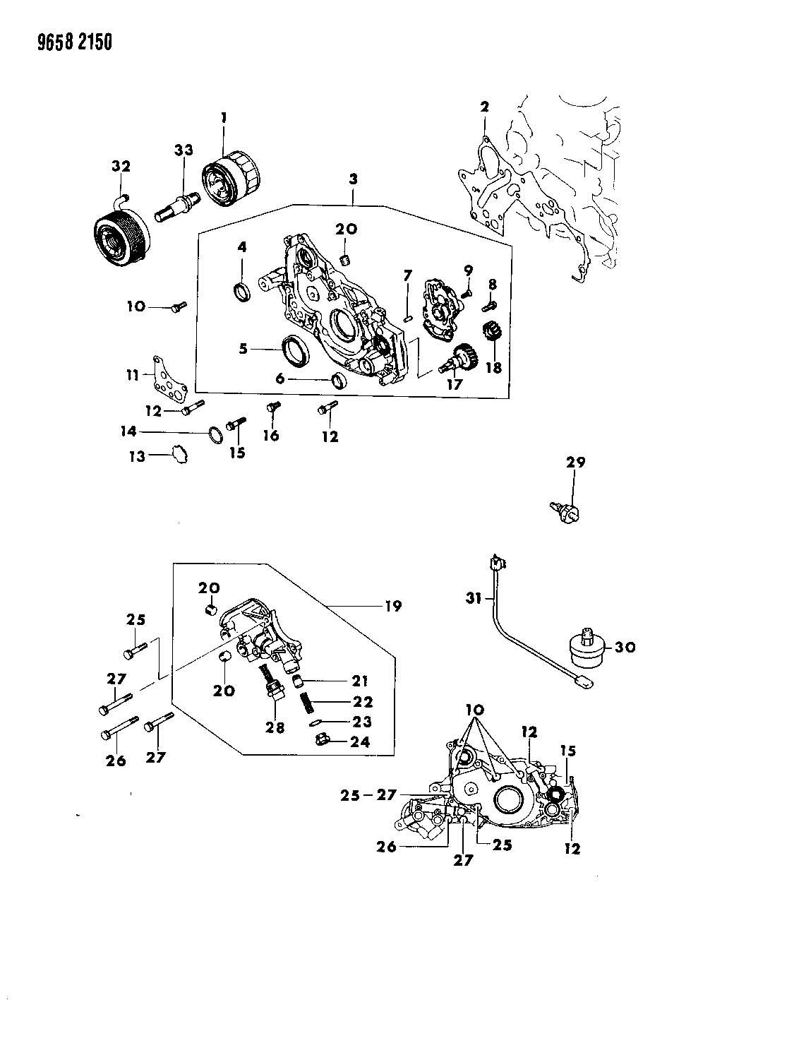 2001 chrysler sebring gear  oil pump  ebg
