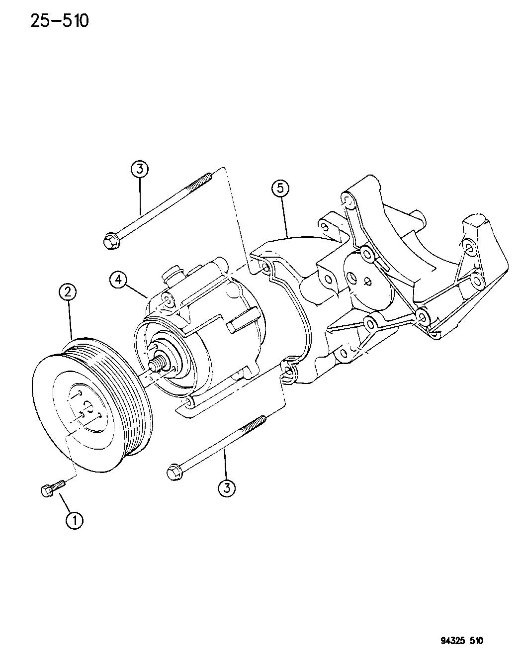 Diagram AIR PUMP R BODY for your Dodge