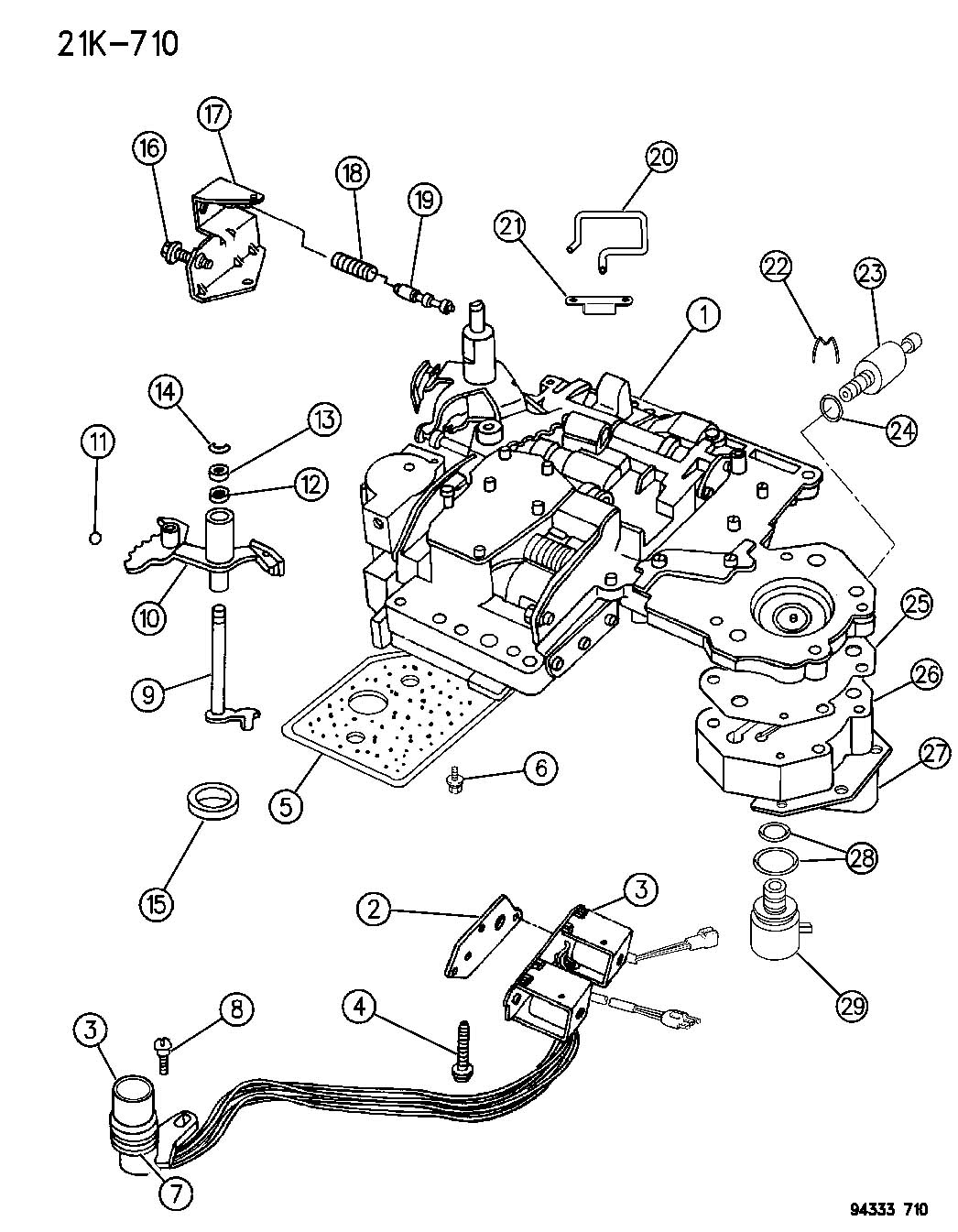 Chrysler 727 Neutral Safety Switch Wiring Diagram Master 44re Transmission 47rh Park B M
