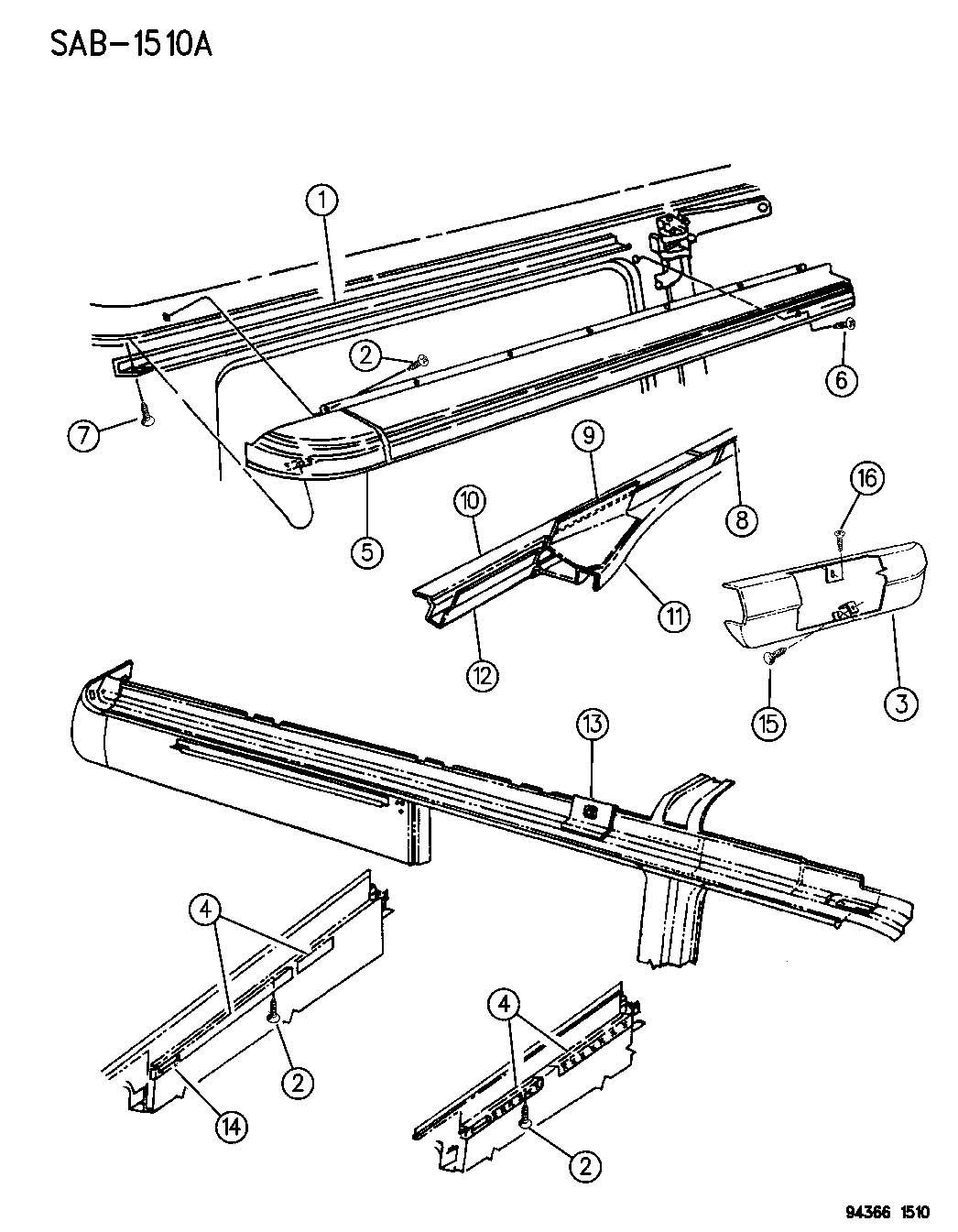 sliding door parts  dodge ram van sliding door parts
