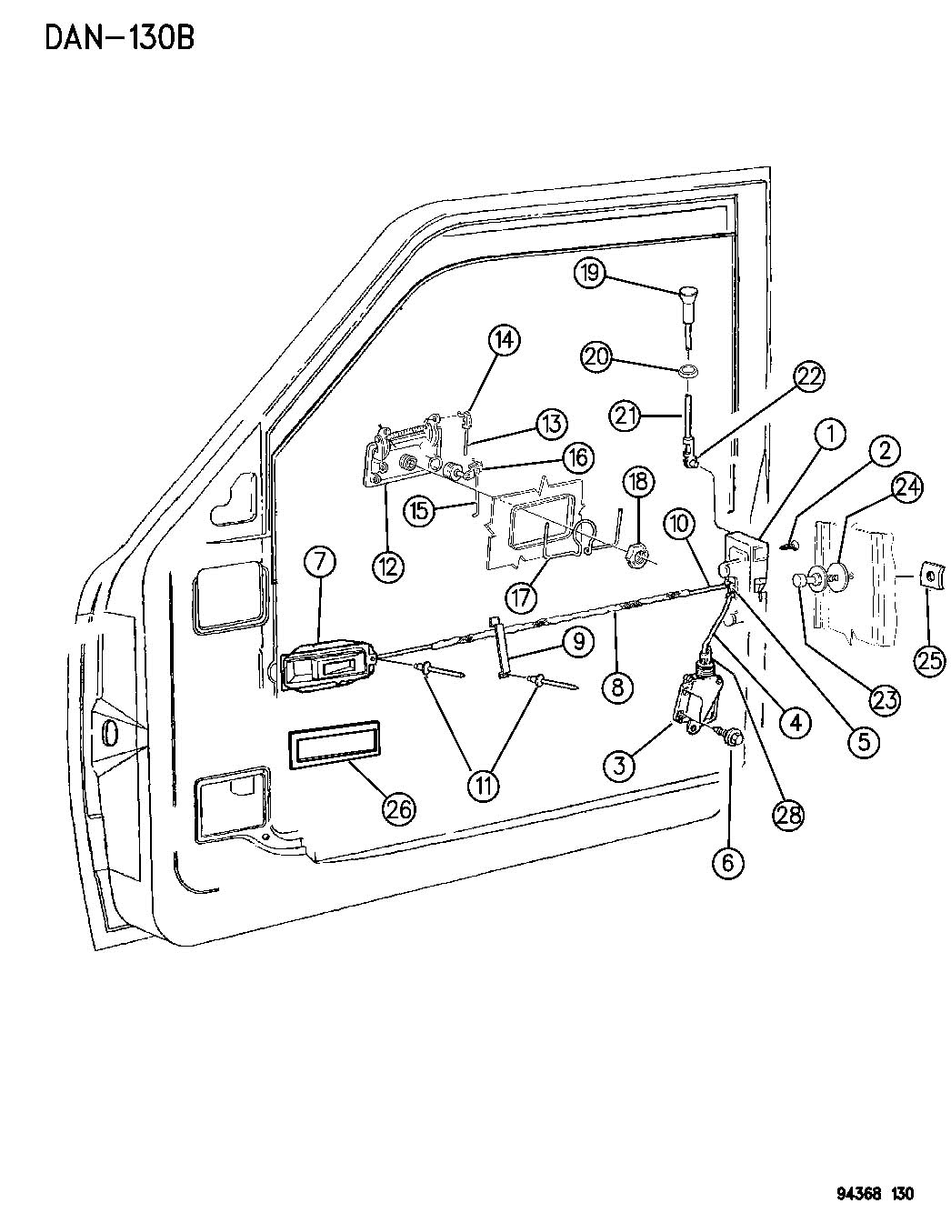 93 dodge dakota door panel diagram  dodge  auto parts