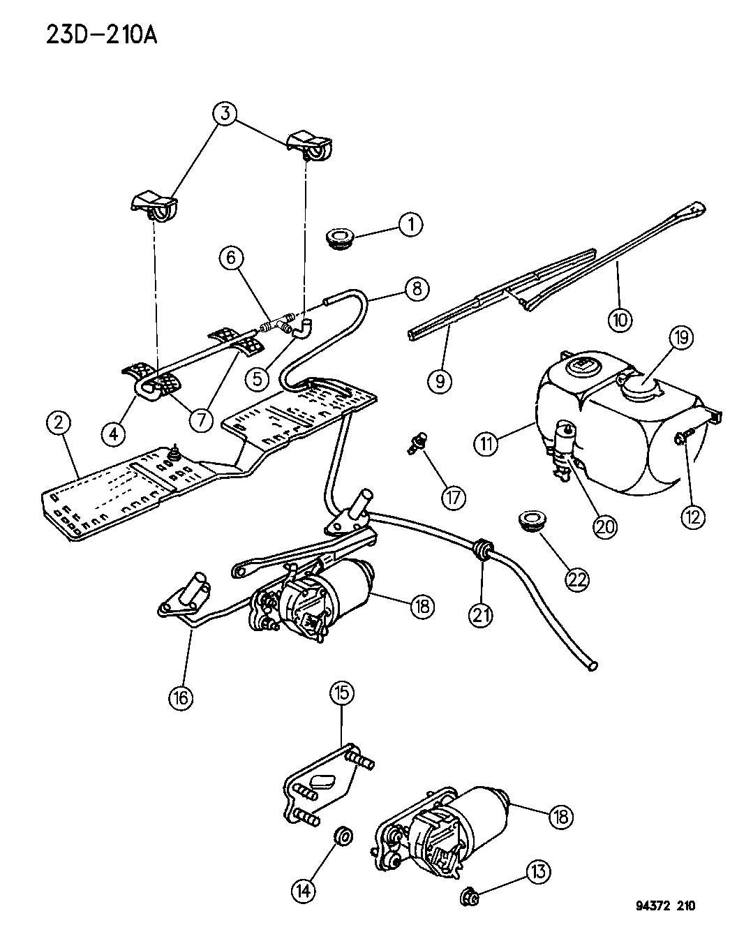 1994 dodge caravan wiper motor