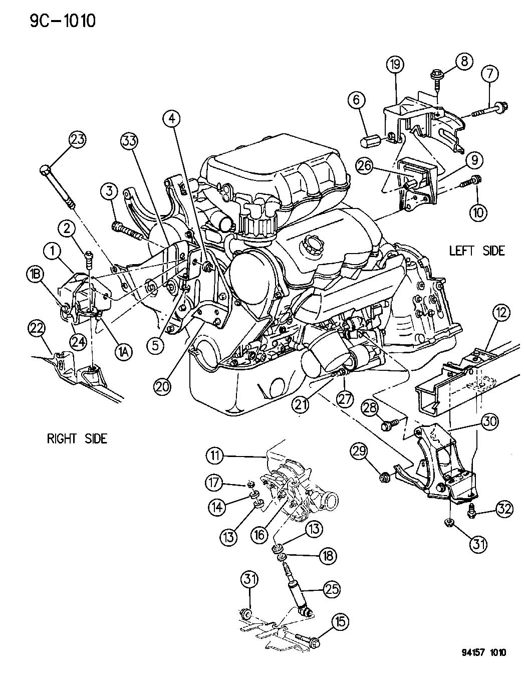 1994 ford aerostar 3 0 engine diagram