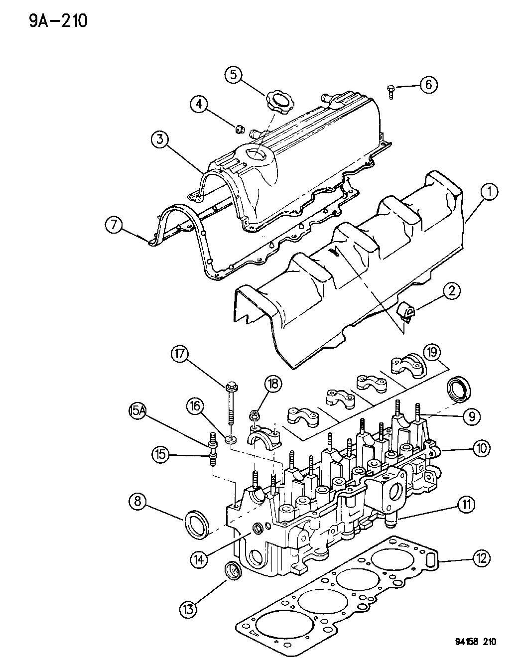 1995 chrysler sebring head bolt removal diagram